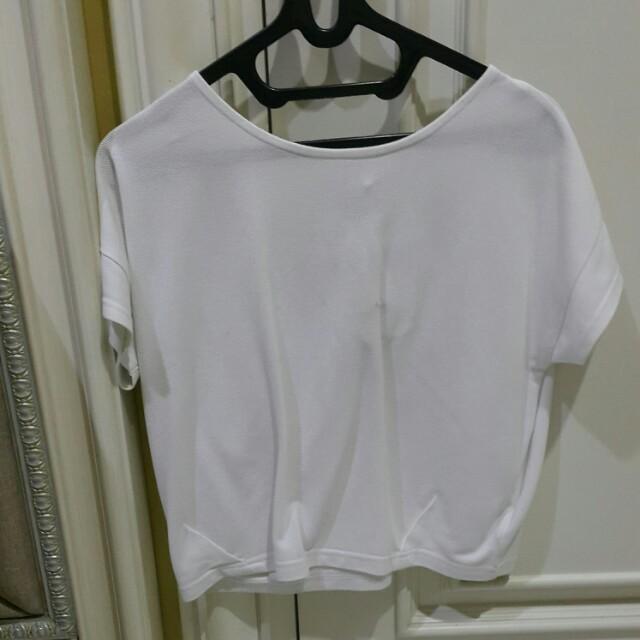 Kaos wanita santai putih