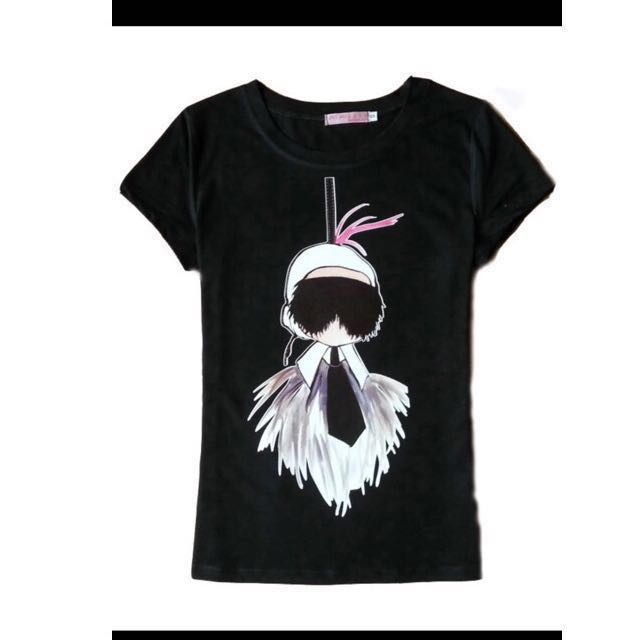 Karl Lagerfeld picture Cartoon T-Shirt