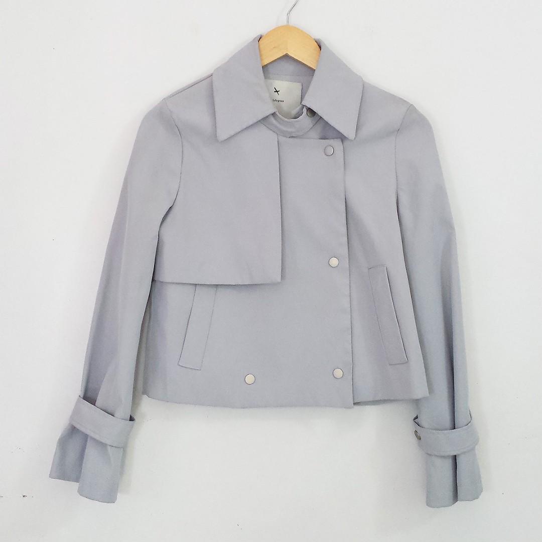 [RESERVED] Korean Fashion Style Lulu Grace Light Gray Jacket Coat