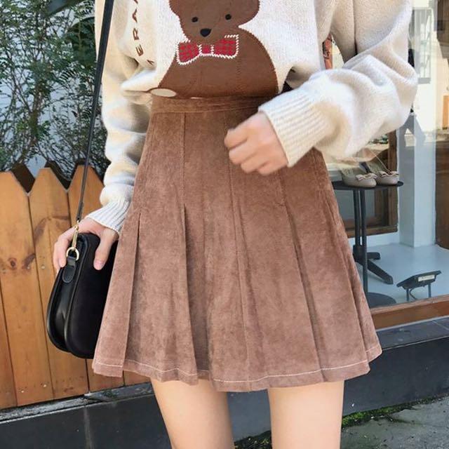 Korean velvet skirt