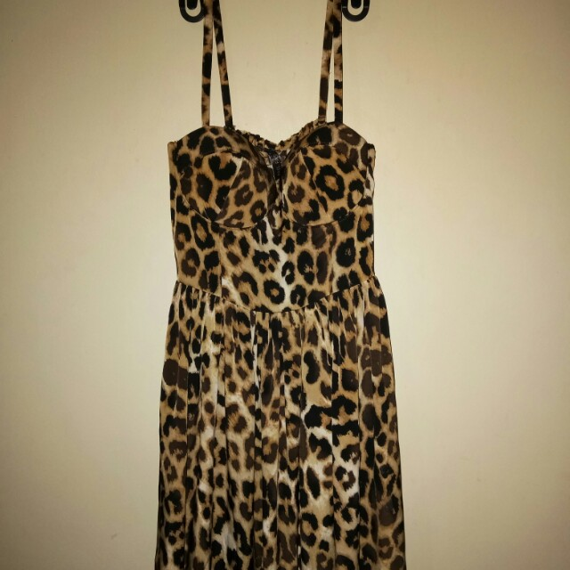 Leopard Corset Dress