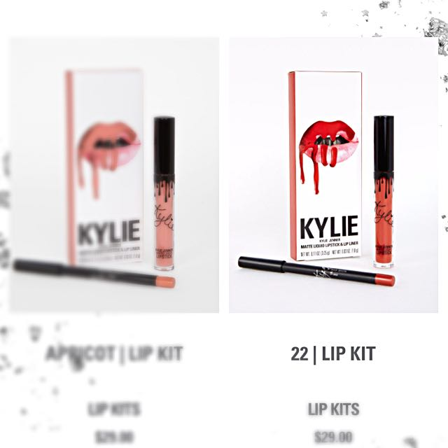 Lip matte kylie lip kit 2in 1
