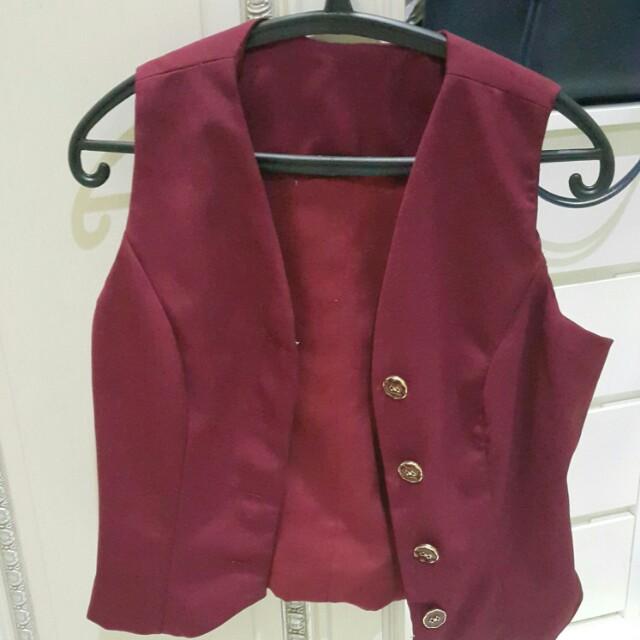 Maroon vest
