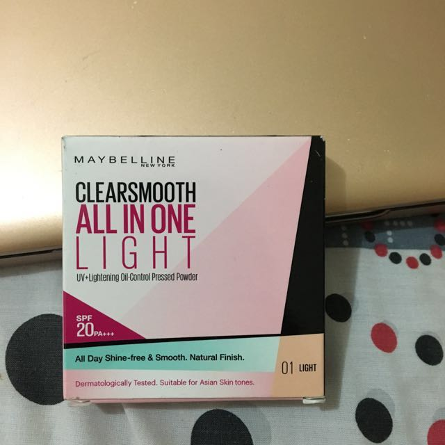 MAYBELLINE CLEARSMOOTH ALL IN ONE LIGHT PRESSED POWDER