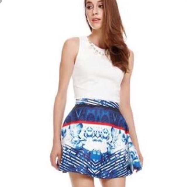 Mds blue abs flare skirt