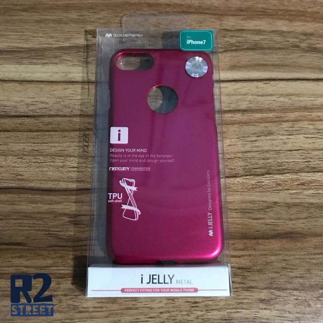 Mercury Goospery Iphone 7 Casing - Hot Pink
