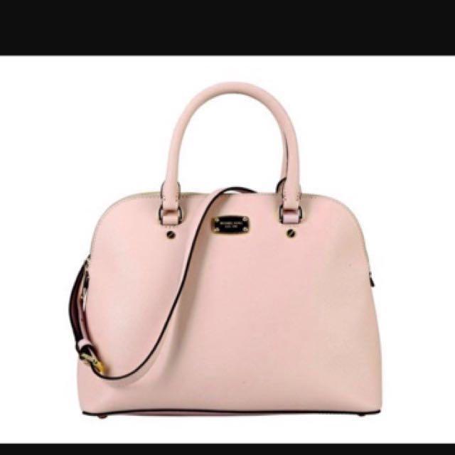 72b0e2492af1 Michael Kors Cindy Dome Saffiano Leather Satchel, Luxury, Bags ...