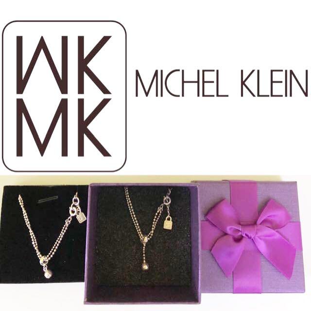 MICHEL KLEIN 垂墜銀珠雙鍊純銀項鍊手鍊組