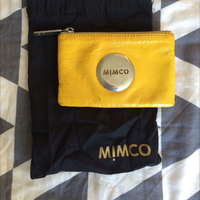 Mimco Small Yellow Pouch - Still With Bag