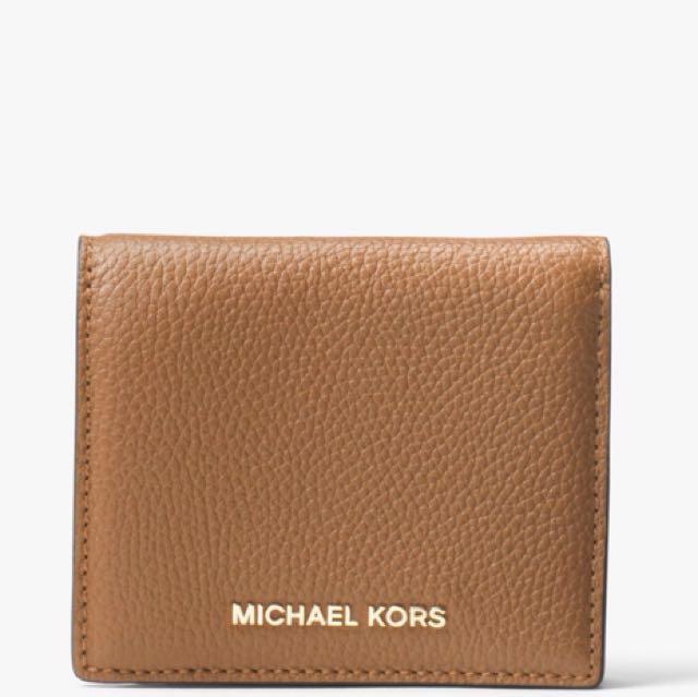 火紅精品品牌♥️全新MK 焦糖卡其色短夾michael kors