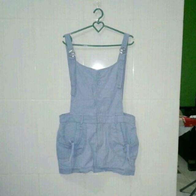 MKO Blue Overall Skirt
