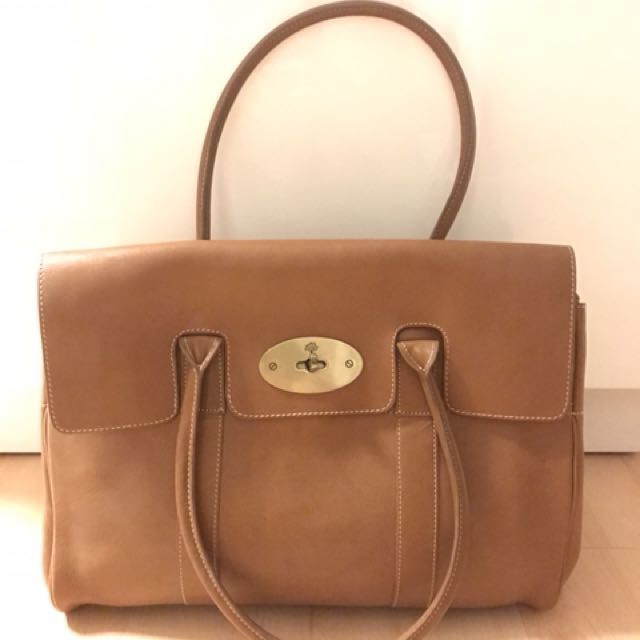 Mulberry Bayswater in Oak Natural Leather Non-Authentic