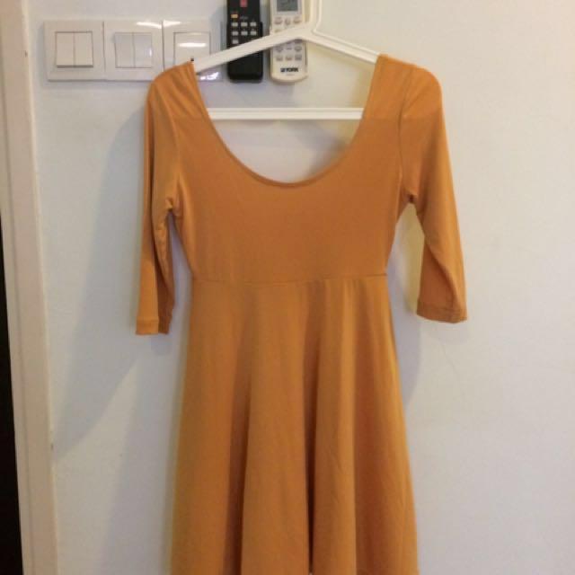 Mustard Yellow Flare Dress