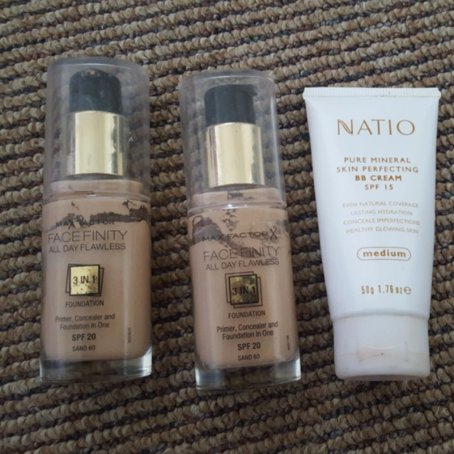 Natio and maxfactor foundation