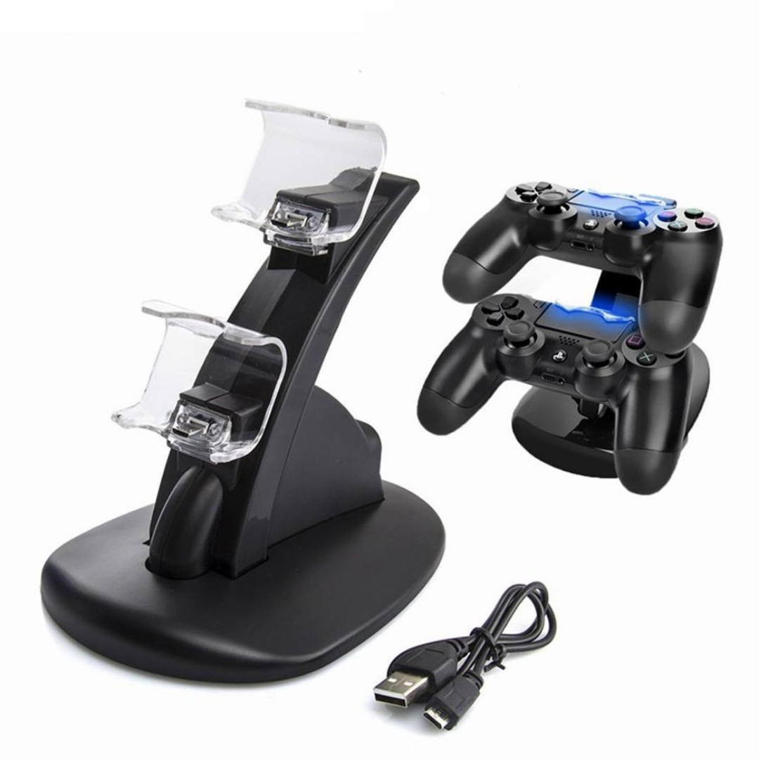 New Not Used Ps4 Slim Pro Controller Charger Led Gaming Dobe Dual Charging Dock Console Stand Video Accessories On Carousell
