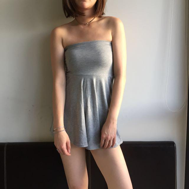 Off Shoulder grey top