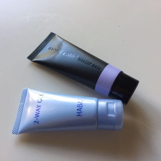 韓國OMG! 紫色飾底乳+日本HABA兩用面膜