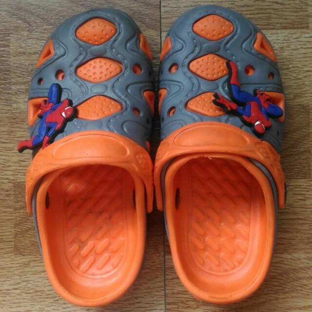 Orange-grey shoes