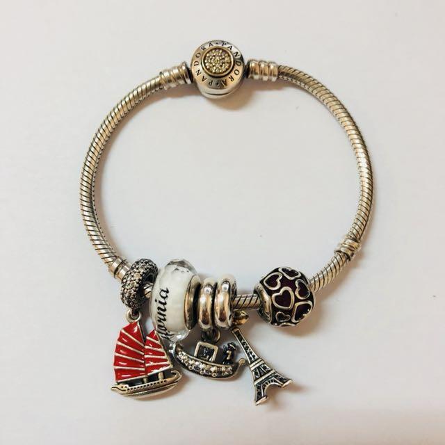 Pandora (set: bracelet and charms)