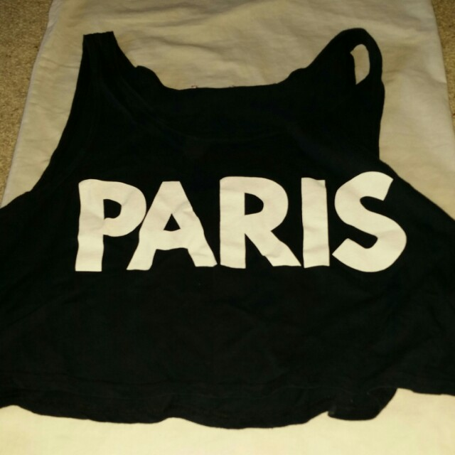 Paris cropped top
