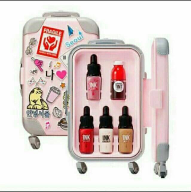 Pink Peripera Limited Edition Luggage Set