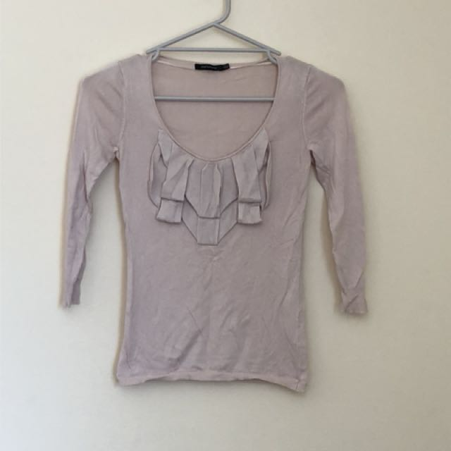 Portmans 3/4 sleeve pale pink top