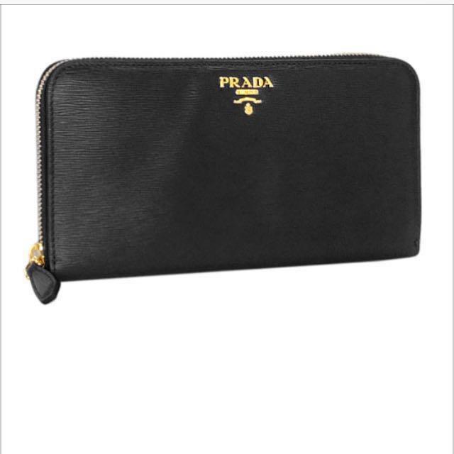 美國購入Prada經典款長夾
