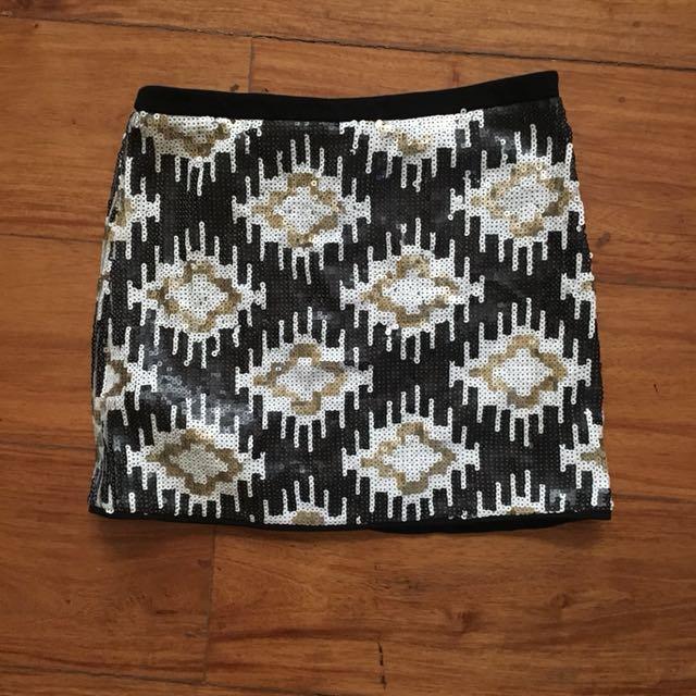 Promod sequins mini skirt