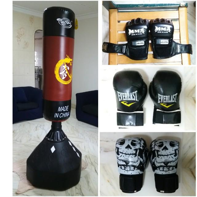 Punching Bag + Punching Gloves