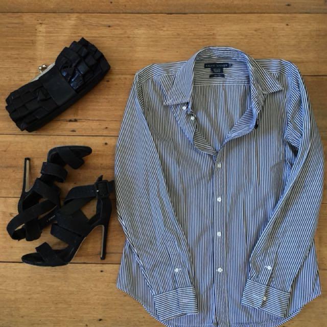 Ralph Lauren Business Shirt Size 12 pinstripe