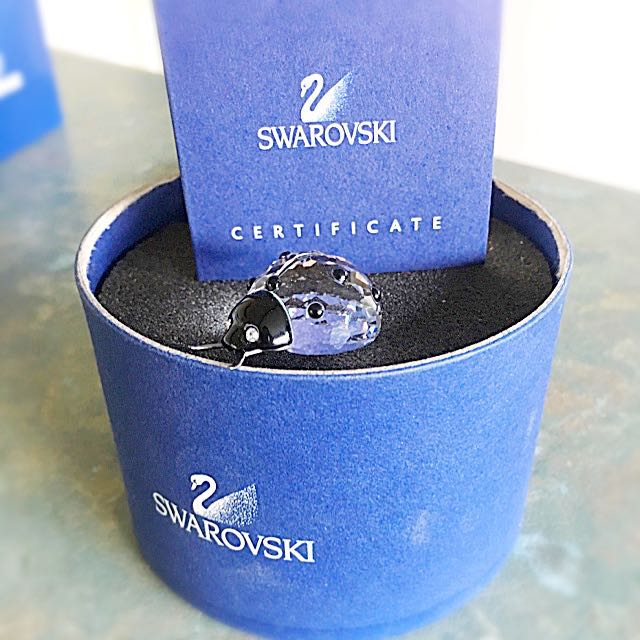 *Rare Genuine Swarovski Crystal Ladybug/Retired