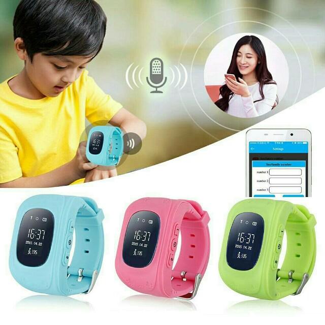 Readystock blue G36 kids children GPS Smart Watch safe keeper