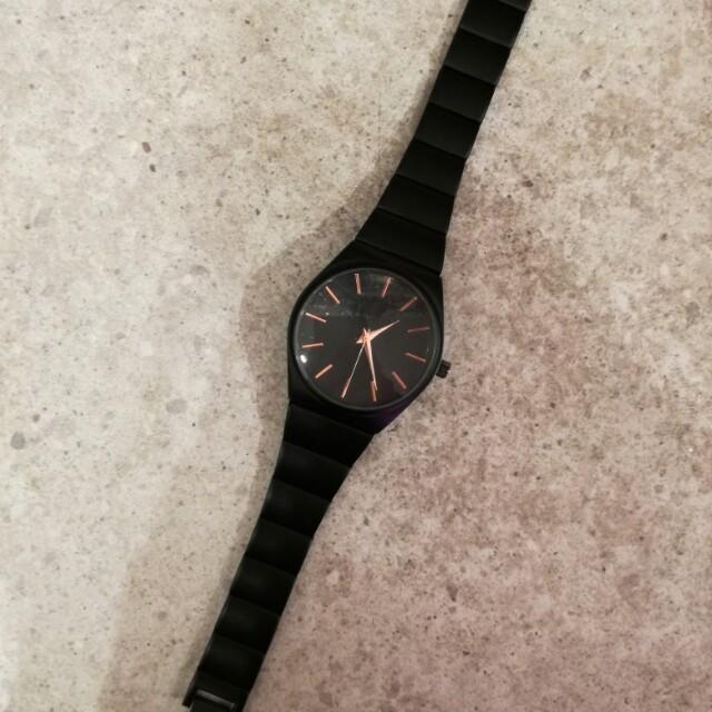Readystock Lovisa Authentic black matte analogue watch