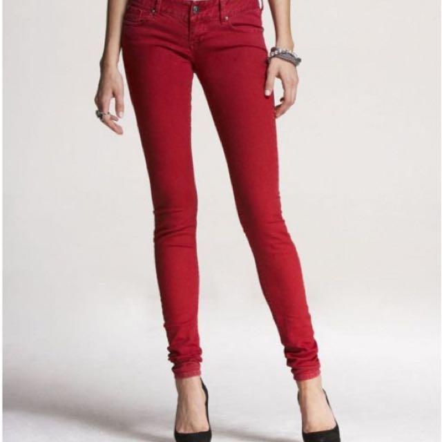 Red Jeans (Mango) Sz UK8