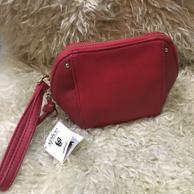 Red Wristlet pouch