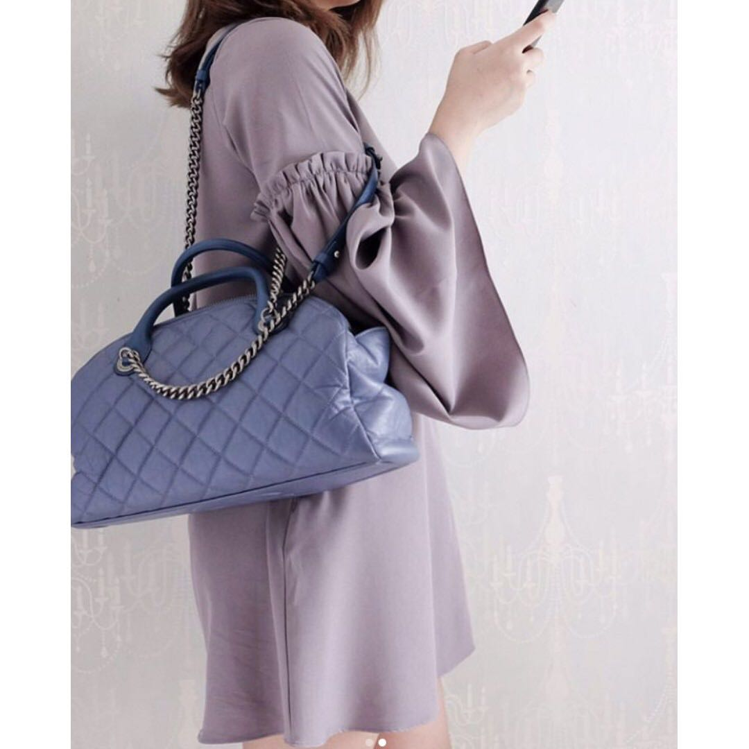 REPRICED! Chanel Bowling Tote Limited Edition (Bowling Cruise ... 3b2a08619b
