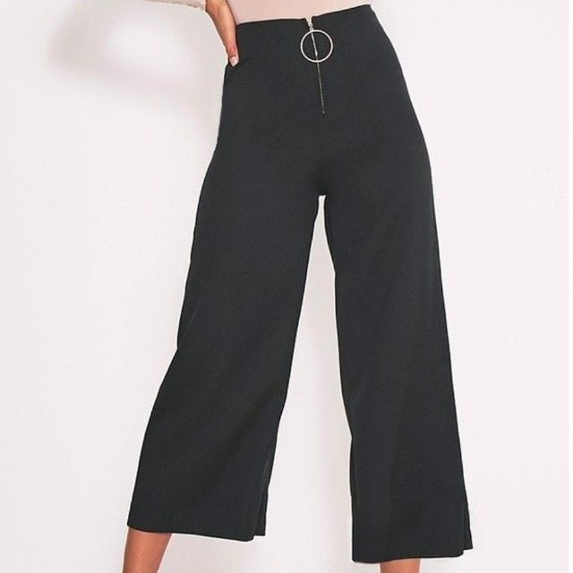 Ring zip cullote pant