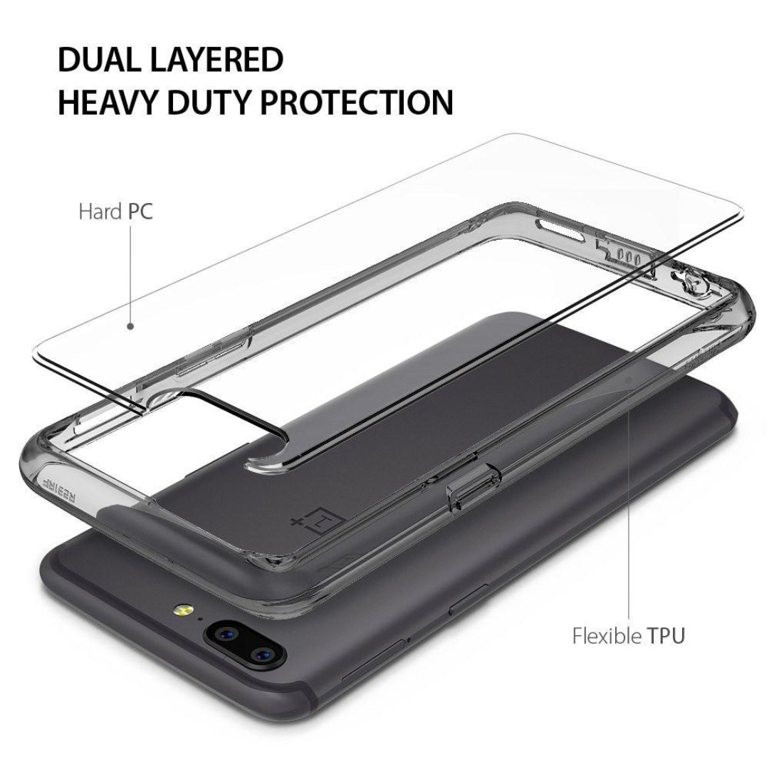 ... Dual Layer Protective. Source · Ringke Fusion Case Cover for Oneplus 5 Clear / Smoke Black, Mobiles & Tablets,