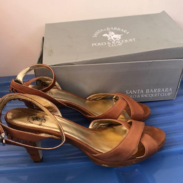 Santa Barabara -Polo club brown heels size 41