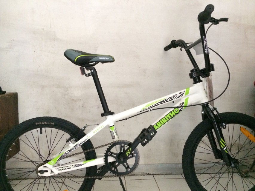 """Sepeda BMX TABIBITHO RASCAL EXPERT XL 20"""" AE x XS WHT"""