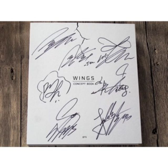 Signed autographed wings concept book go