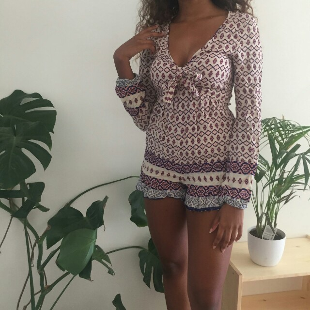 Size 6 long sleeve playsuit