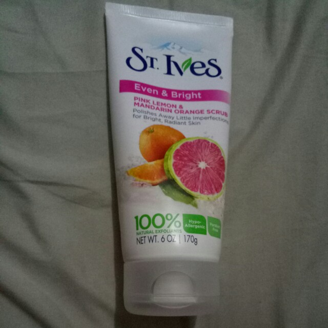 St. ives pink lemon & mandarin orange scrub