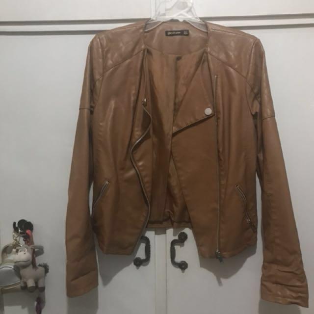 Stradivarius leather jacket - faux