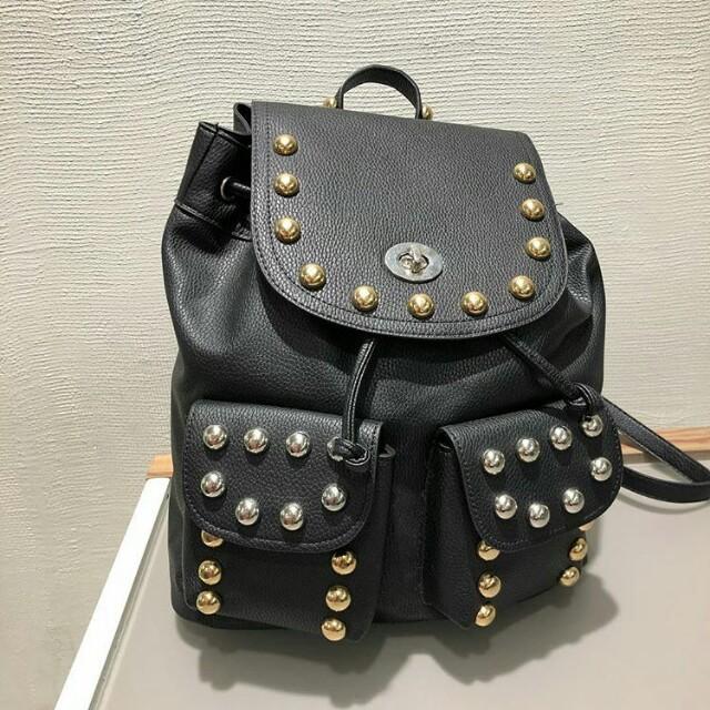 Stradivarius studded backpack