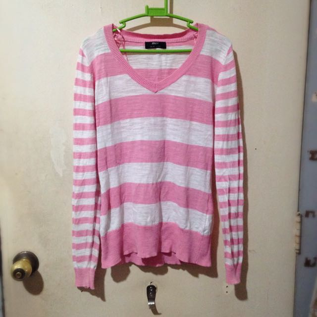 Stripes (Pink & White) Long Sleeves