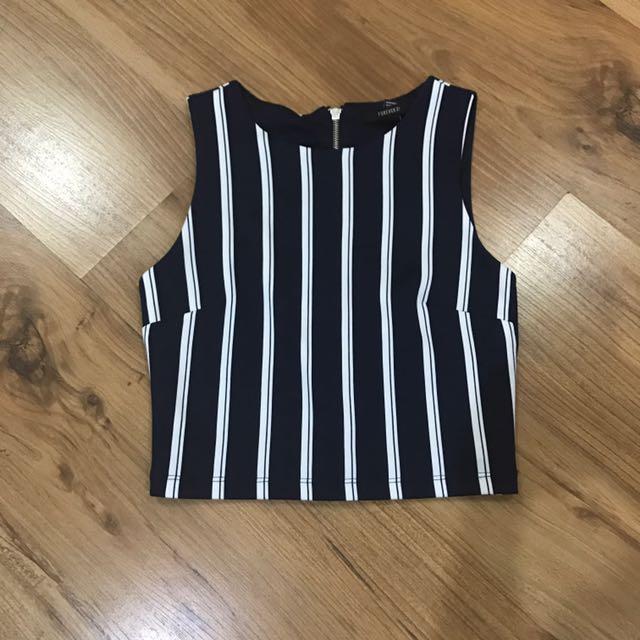 7f2b0d0452a5 Stripped Body Con Crop Top