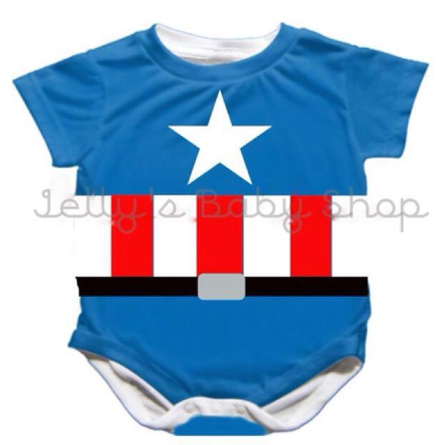 Super heroes babysuits onesies