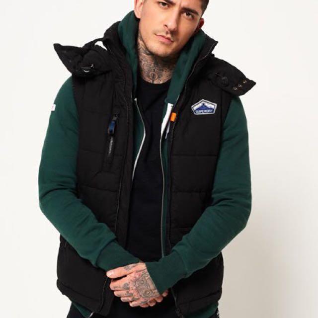 正版🆕極度乾燥SuperDry保暖無袖連帽背心外套Bluestone Gilet