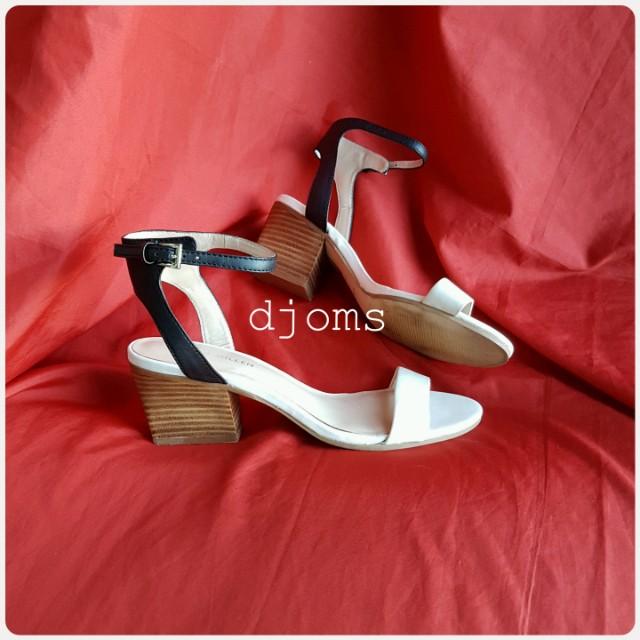 Sz 38 Karen Millen ankle strap white sandals shoes